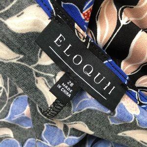 Eloquii Dresses - Eloquii Wrap Maxi Dress Stretch 28 Floral Boho